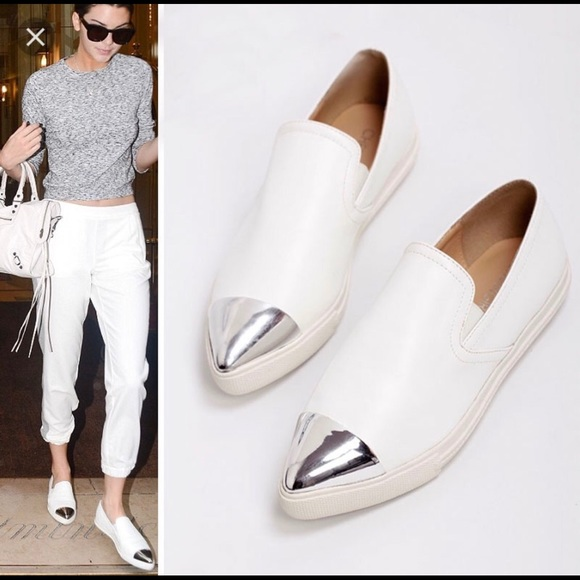 0c4a25edd25 BCBGeneration Shoes - BCBG BG-Nomad White Loafers with Silver Toe